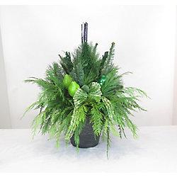 Foliera 10-inch Fresh Cut Greens Arrangement