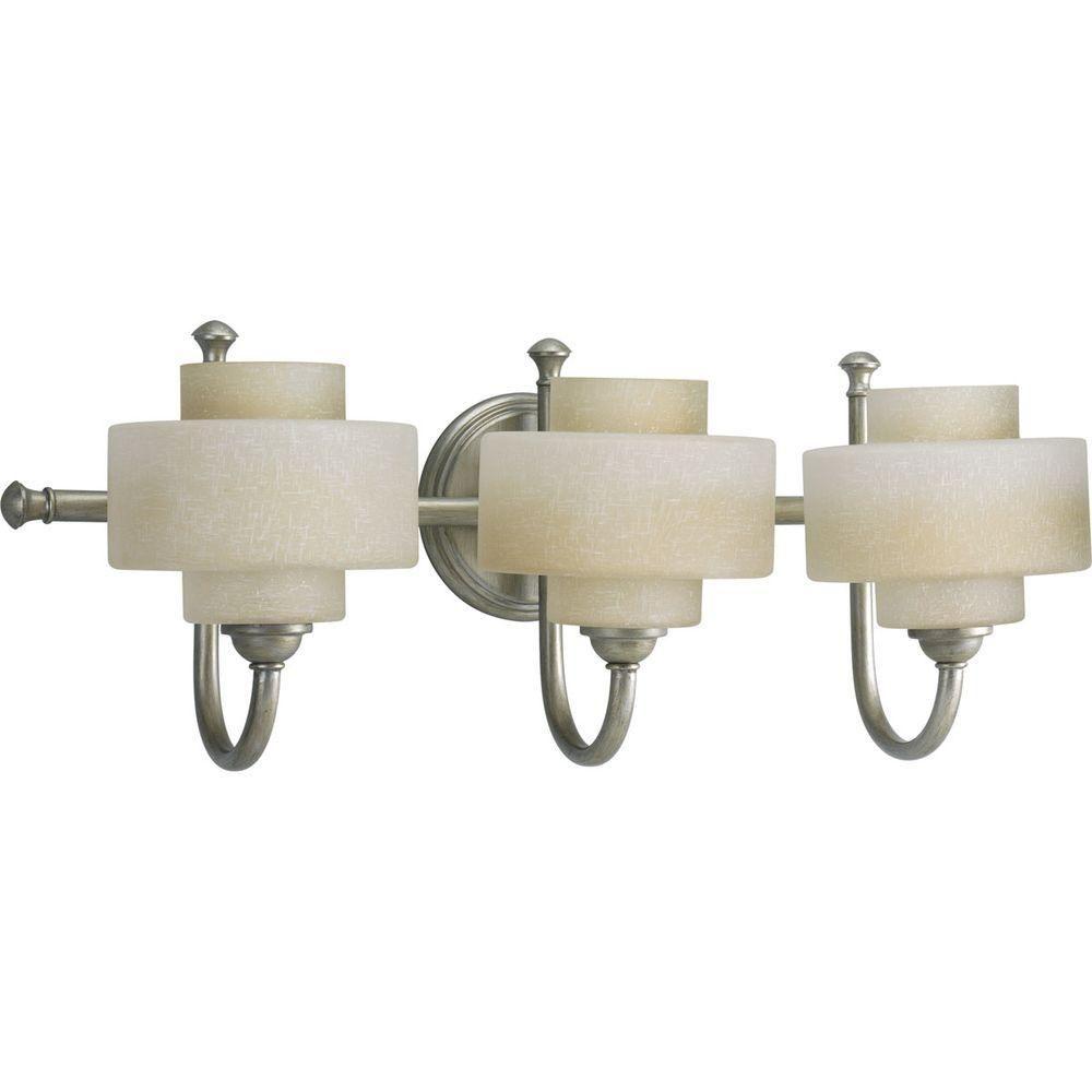 Ashbury Collection Silver Ridge 3-light Vanity Fixture
