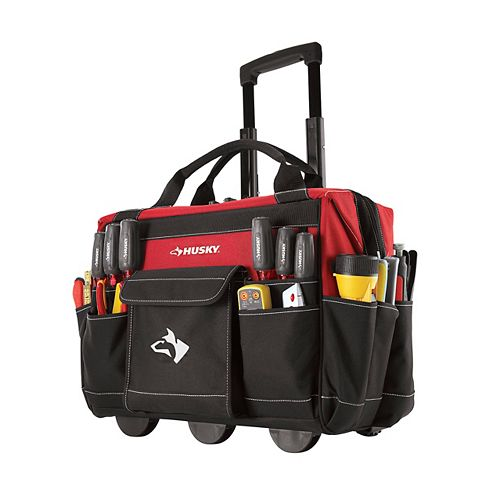 Husky 18-inch Rolling Tool Storage Tote