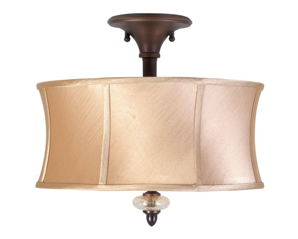 Decorative Star Ceiling Light Semi Flush Bathroom Fixture: World Imports Chambord Collection 3-Light Semi-Flush Mount