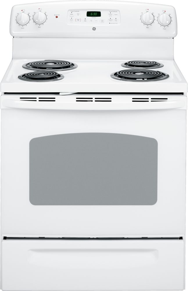 5.0 cu. ft. Electric Free-Standing Self-Cleaning Range in White