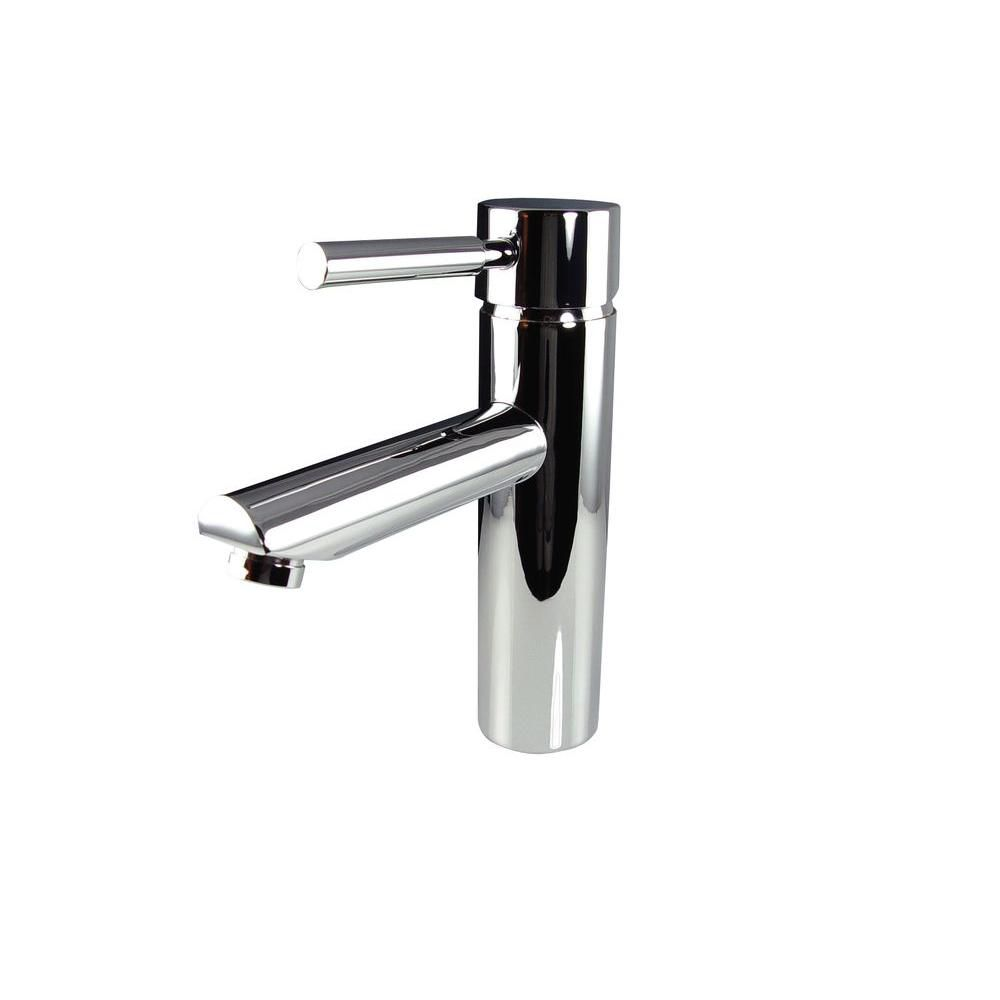Fresca tartaro single hole mount bathroom vanity faucet in chrome finish the home depot canada - Kitchen sink faucets at home depot ...