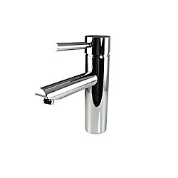Fresca Tartaro Single Hole 1-Handle Low Arc Bathroom Faucet in Chrome with Lever Handle