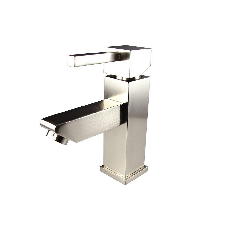 Versa Single Hole Mount Bathroom Vanity Faucet in Brushed Nickel Finish