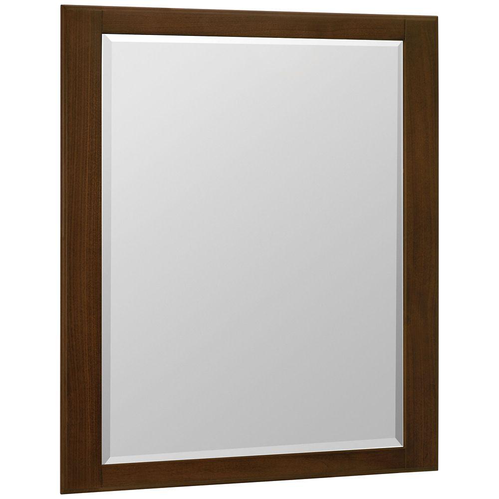 Miroir mural Serenity pacane grillée - 36 po x 30 po
