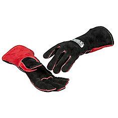 jessi combs gants de soudage mig en cuir supérieur, taille s