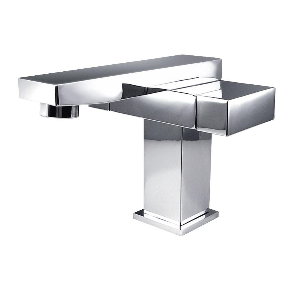 Orba Single Hole Mount Bathroom Vanity Faucet in Chrome Finish