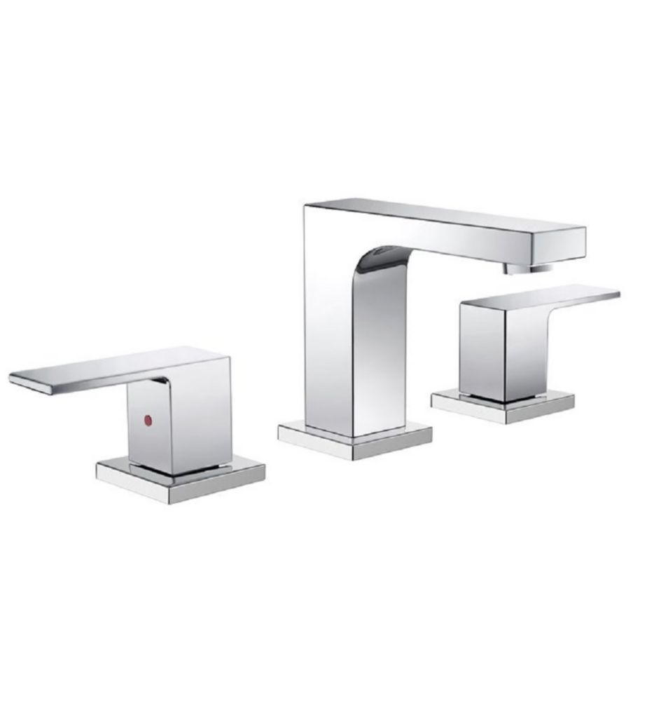 Sesia Widespread Mount Bathroom Vanity Faucet in Chrome Finish