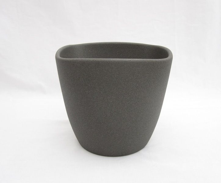 Ceramic Pot Low Granite 6 Inch
