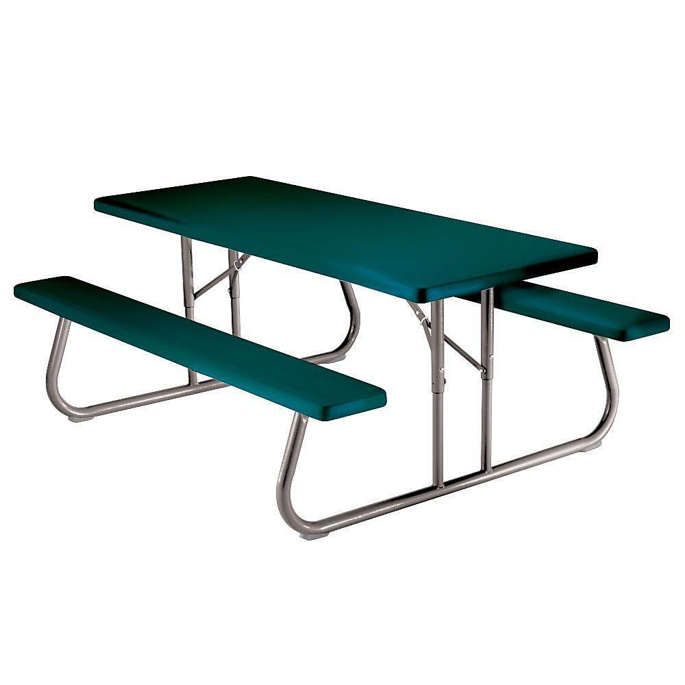 Table de pique-nique pliante 1,83 m (6 pi) (vert)