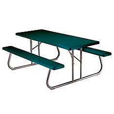 6 ft. Folding Picnic Table in Green