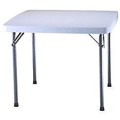 37-inch Square Card Table in White