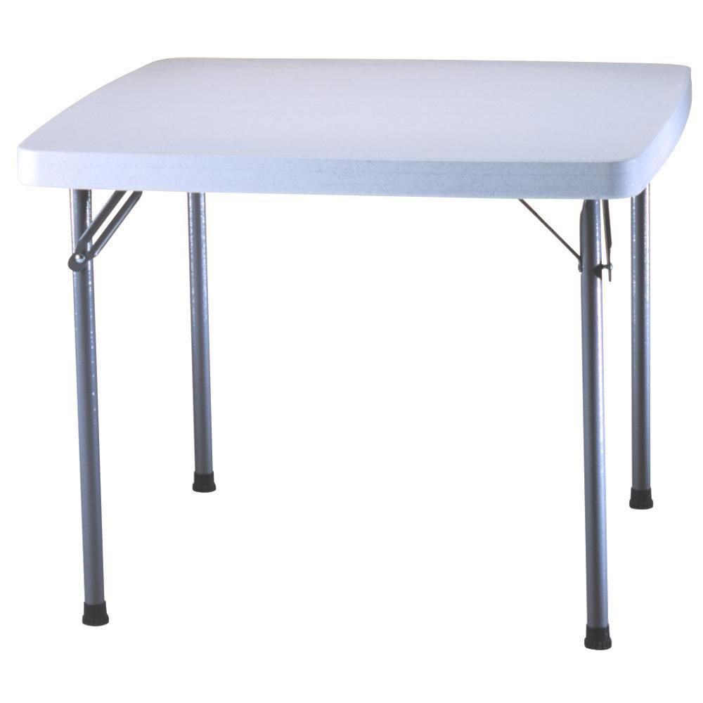 37 Inch Square Card Table In White