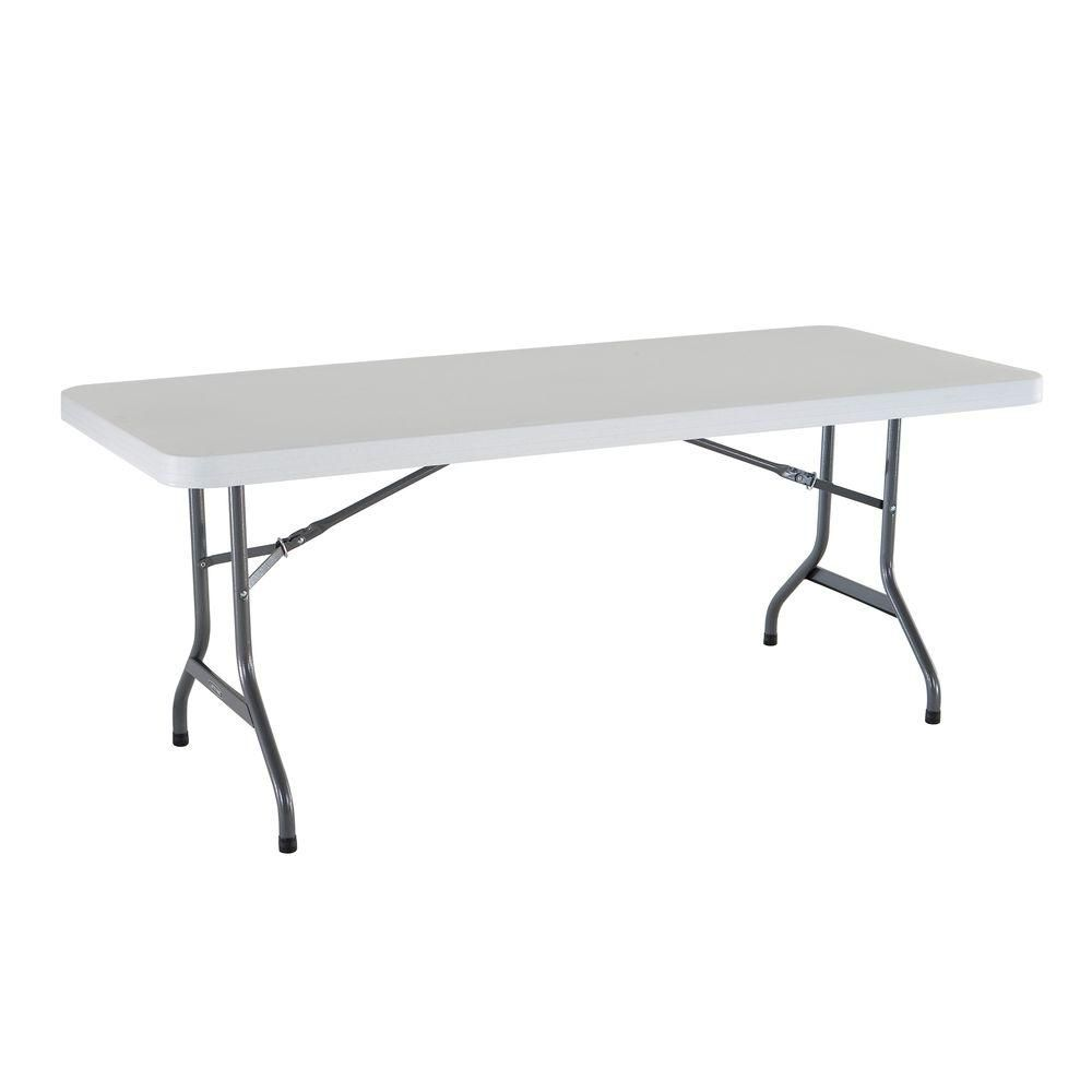 Lifetime plastic folding banquet table 6 feet the home for Table 6 feet