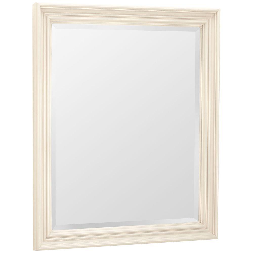 Celeste Vanilla Wall Mirror - 31 Inch x 26 Inch