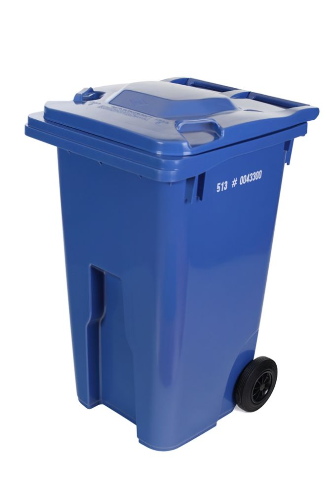 enviro world 55 gallon recycling bin blue the home depot canada. Black Bedroom Furniture Sets. Home Design Ideas