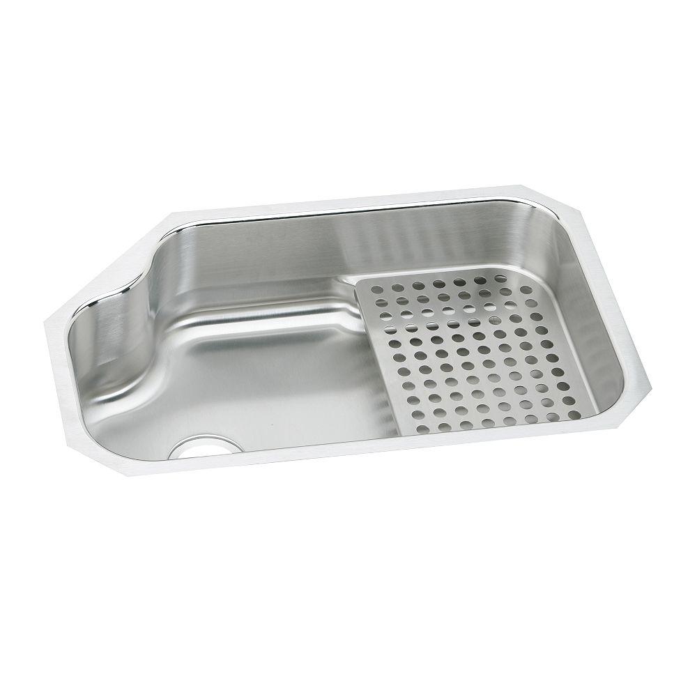 Elkay Single Bowl Undermount Sink - Workshelf Sold Separately As Nsop001, Lustrous Satin 18 Gauge Stainless Steel, 36 Inch x 21 Inch x 8 Inch Deep