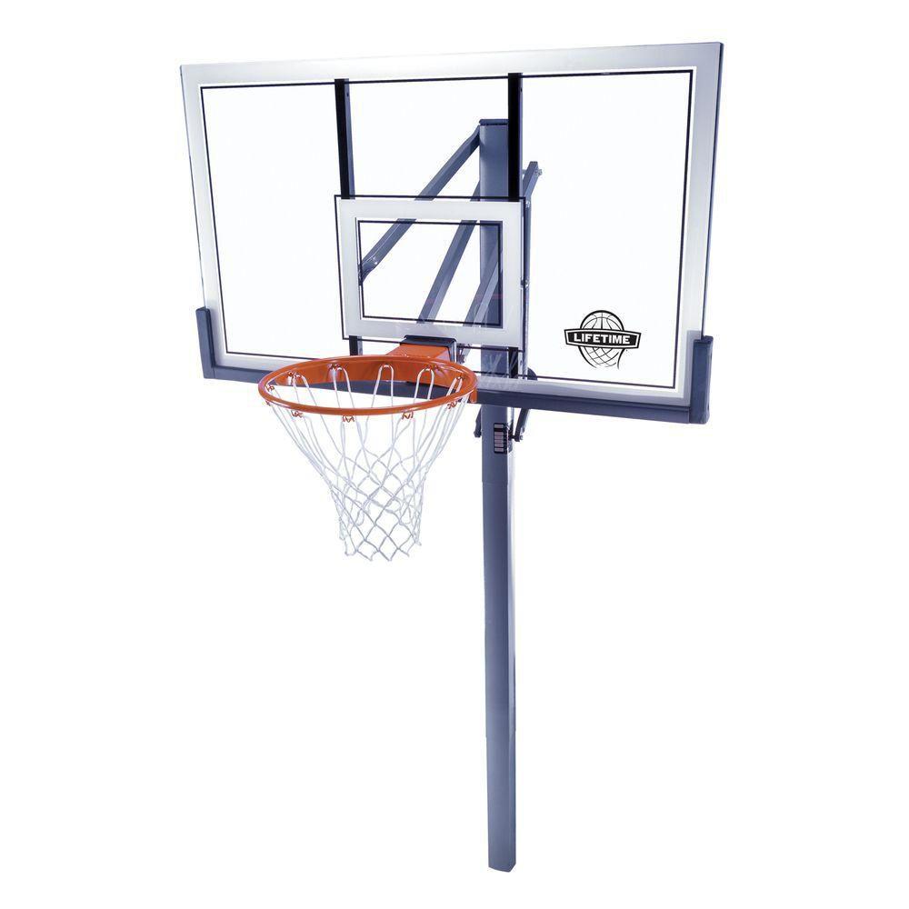 Lifetime 54-inch Acrylic In-Ground Basketball Hoop