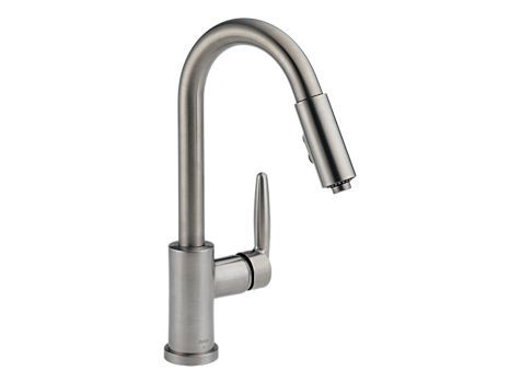 Grail Stainless Steel Pull-Down Kitchen Faucet