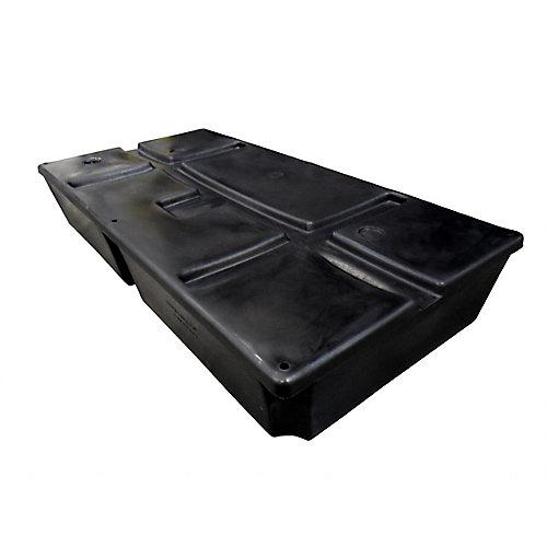 2 ft. x 4 ft. x 16-inch 600 lb. Capacity Foamed Dock Float
