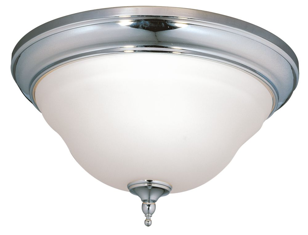 World imports montpelier bath collection 2 light flush mount chrome ceiling fixture the home Bathroom light fixtures ceiling mount