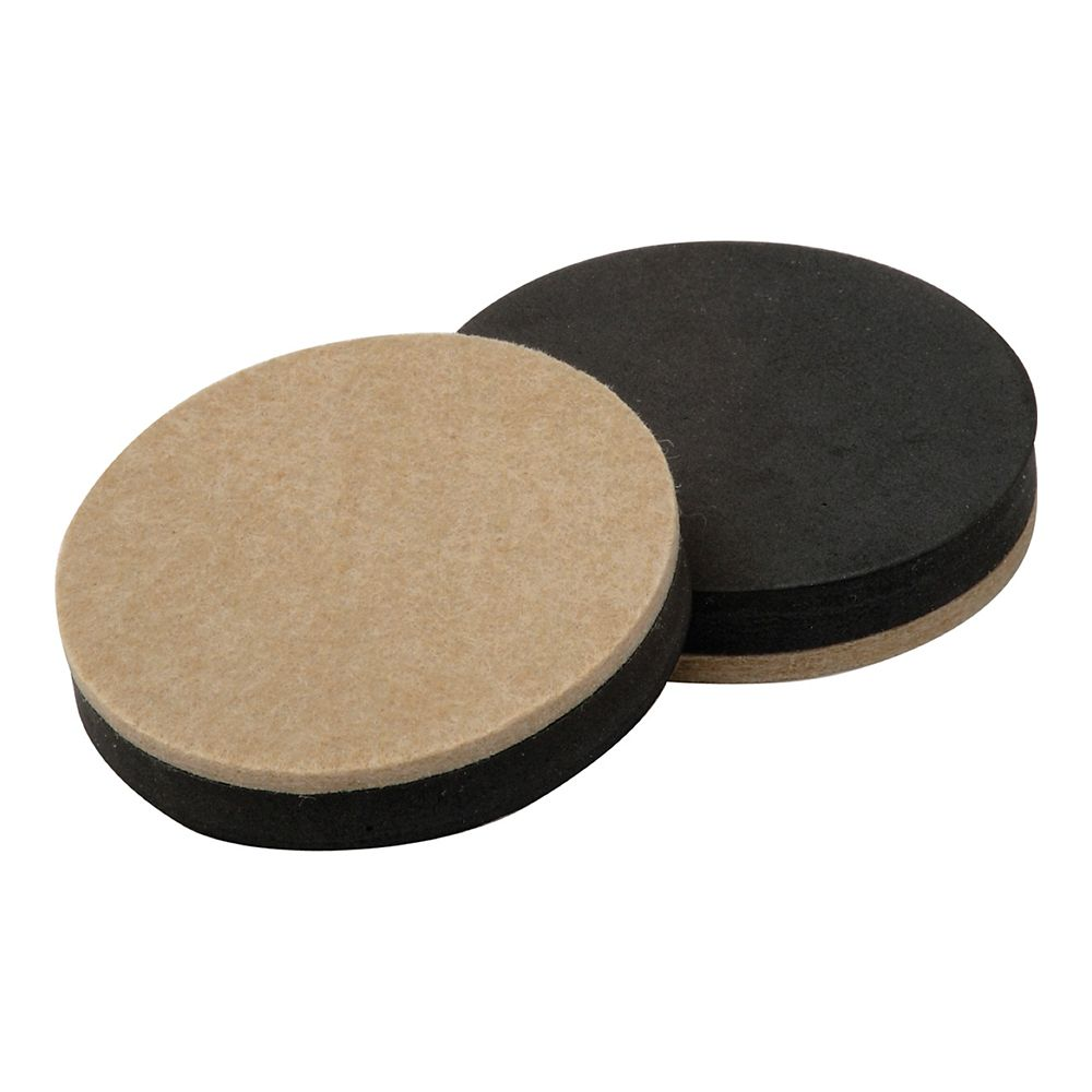 3 1/2 Inch Reusable, Round, Felt Furniture Slider Pads, 4