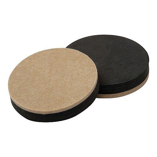 Everbilt 3-1/2 inch Reusable, Round, Felt Furniture Slider Pads (4-Pack)