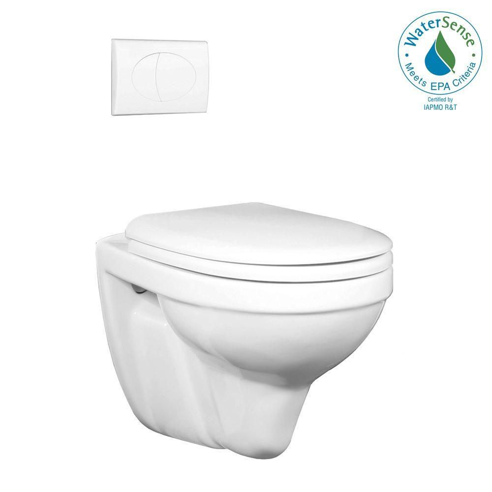 Foremost International 2-piece 0.8/1.6 GPF Dual Flush Round Bowl Toilet in White