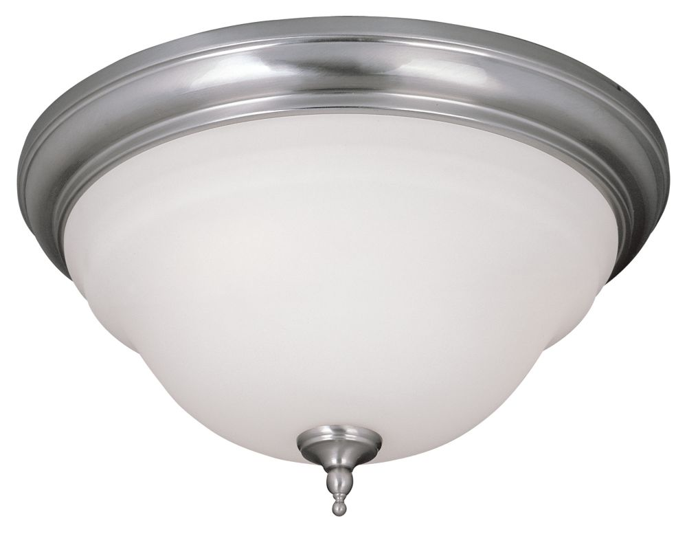 Satin Nickel 2-Light Flushmount