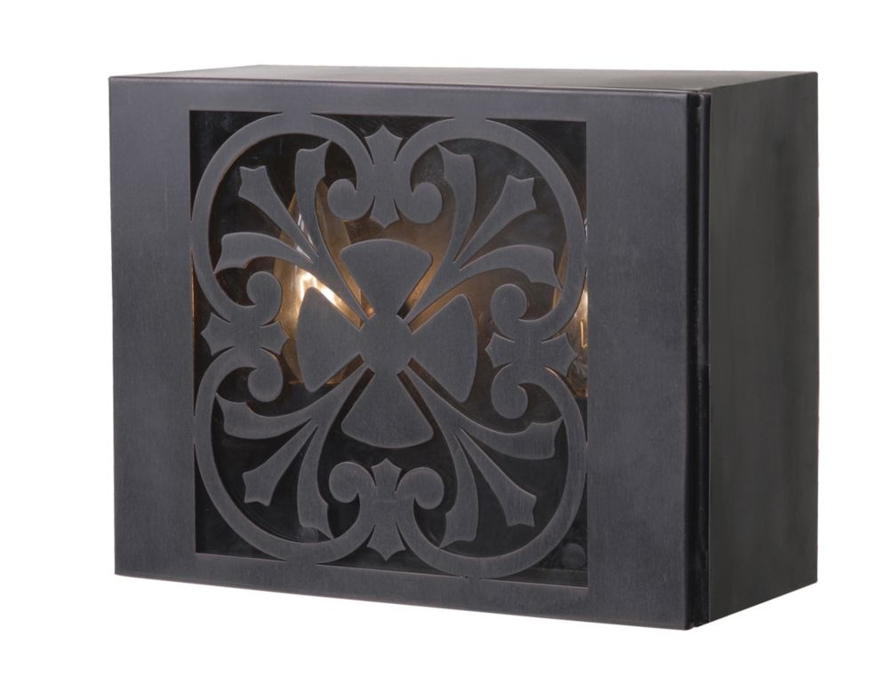 Sevilla Collection Wall-Mount 2-Light Outdoor Rust Sconce
