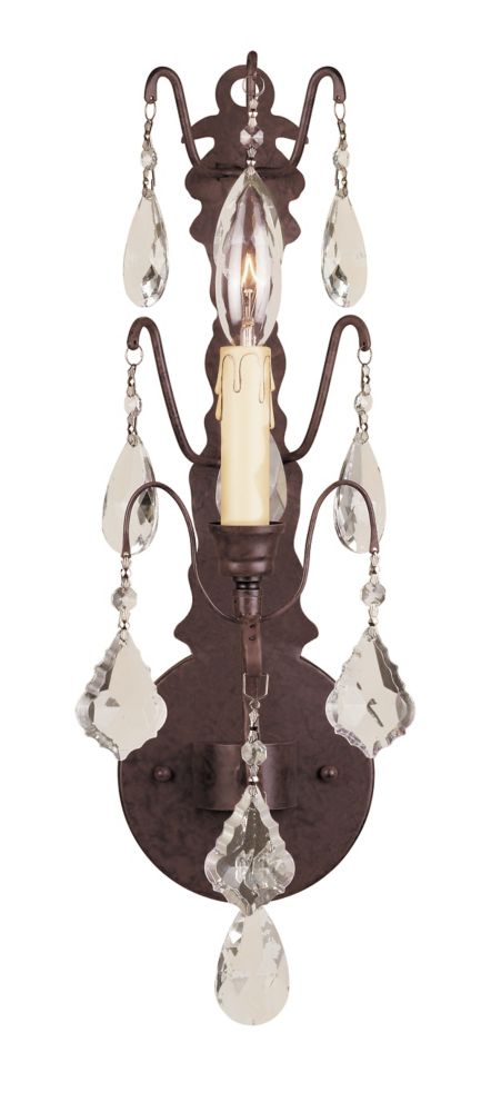 Timeless Elegance Collection 1-Light Bronze Wall Sconce