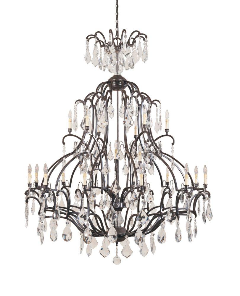 Timeless Elegance Collection Bronze 21-Light Chandelier