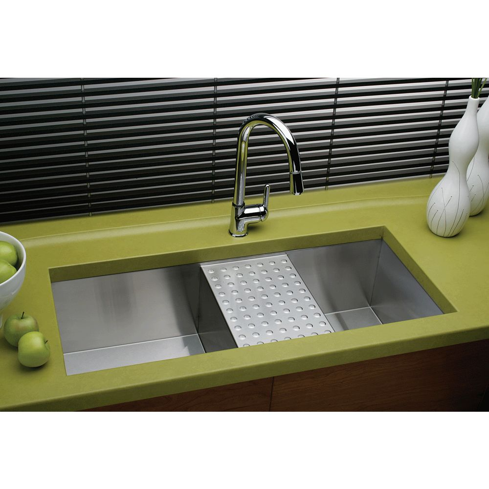 Elkay Double Bowl Undermount Sink, Polished Satin 16 Gauge Stainless Steel, 45 Inch x 18 1/2 Inch x 10 Inch Deep