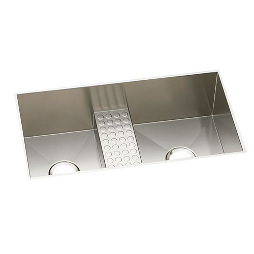 Elkay Double Bowl Undermount Sink, Polished Satin 16 Gauge Stainless Steel, 36 Inch x 18 1/2 Inch x 10 Inch Deep