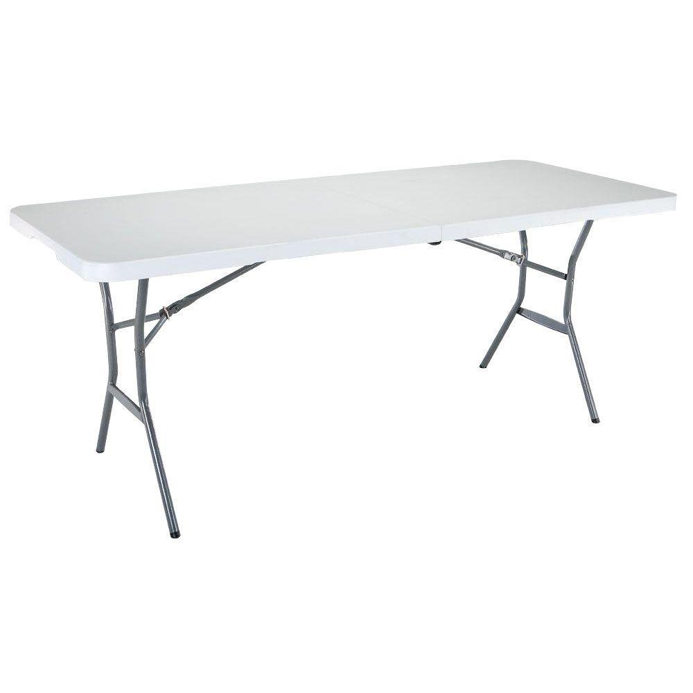 Lightweight Fold-In-Half Table - 6 Feet