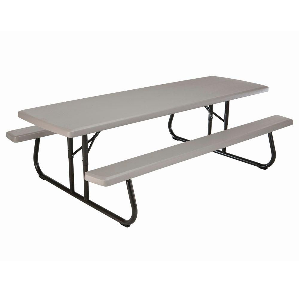 Lifetime 8 Ft Commercial Grade Folding Picnic Table The Home Depot Canada