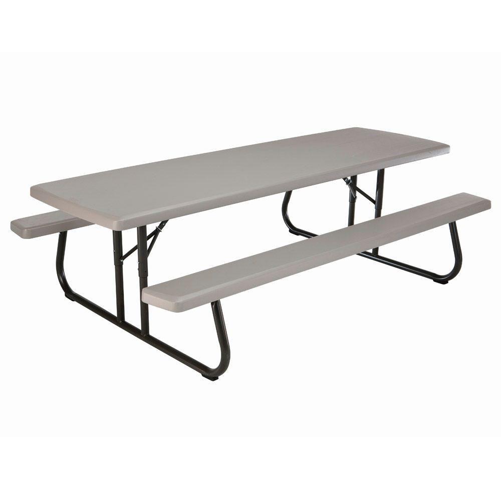 Table de pique-nique pliante commerciale de 2,44m (8pi)