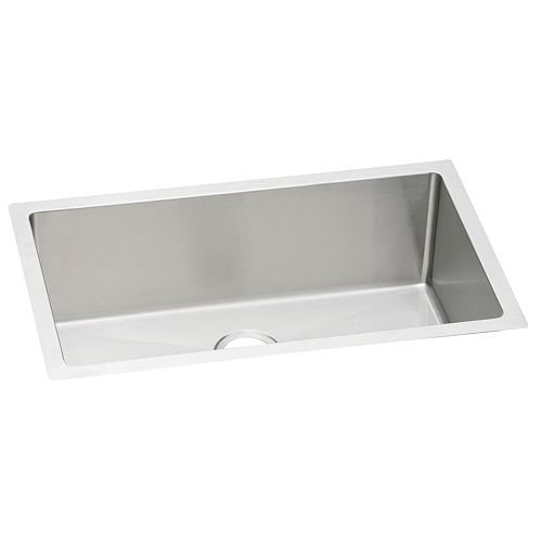 Elkay Single Bowl Undermount Sink, Polished Satin 16 Gauge Stainless Steel, 36 Inch x 18 1/2 Inch x 8 Inch Deep