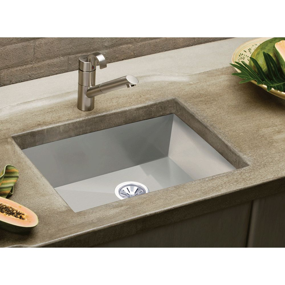 Elkay Single Bowl Undermount Sink, Polished Satin 16 Gauge Stainless Steel, 27 Inch x 18 1/4 Inch x 10 Inch Deep