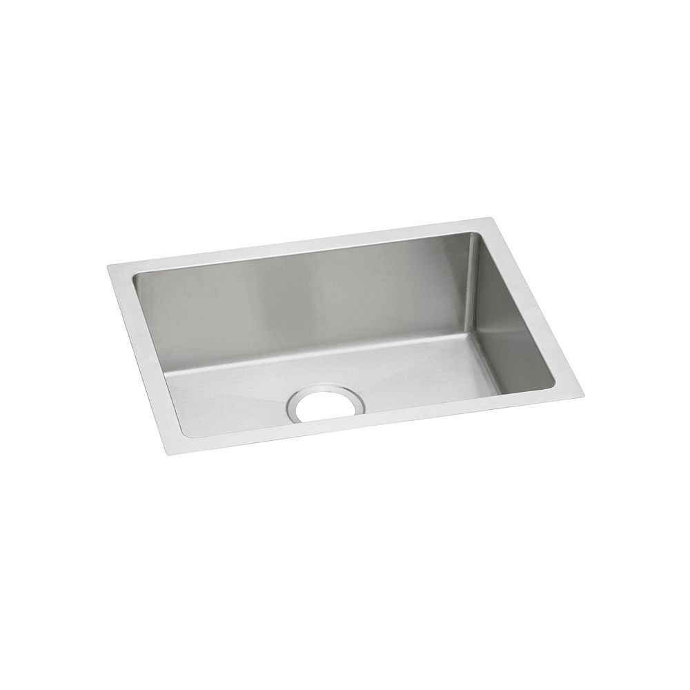 Elkay Single Bowl Undermount Sink, Polished Satin 16 Gauge Stainless Steel, 23 1/2 Inch x 18 1/4 Inch x 10 Inch Deep