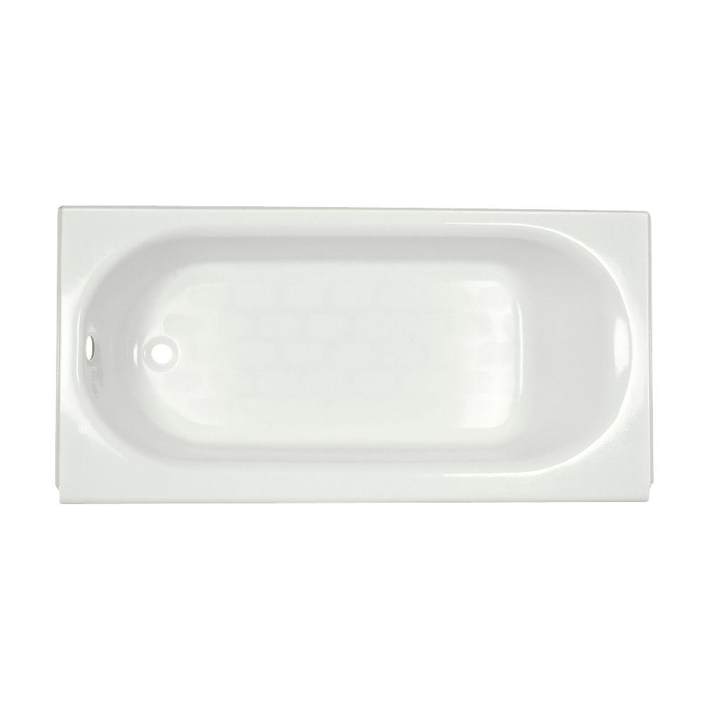 Princeton 60 inch Oval Left Hand Drain Rectangular Alcove Bathtub in White