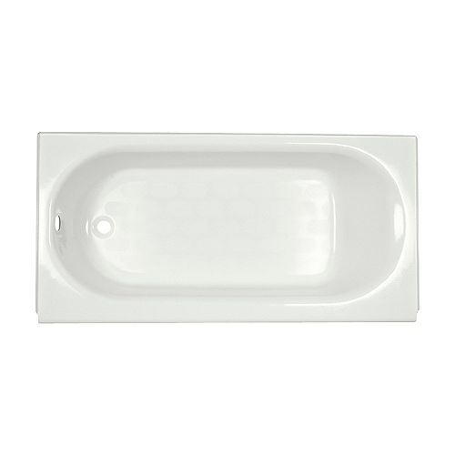 American Standard Princeton 60 inch Oval Left Hand Drain Rectangular Alcove Bathtub in White