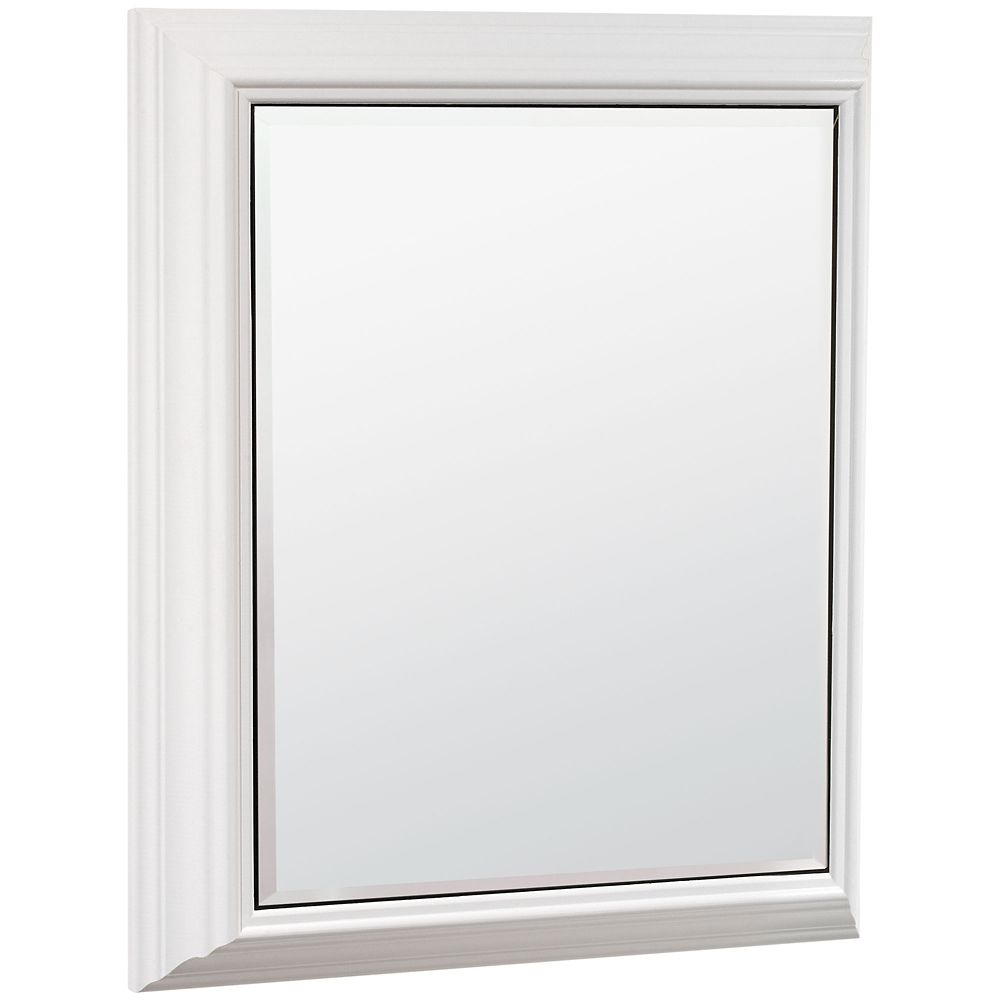 White Surface-Mount Mirrored Medicine Cabinet - 23 Inch Wide