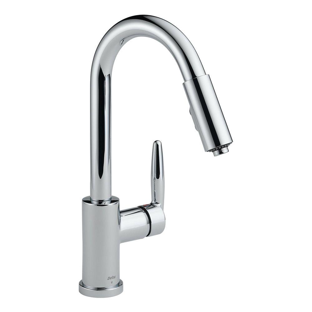 Delta Grail Chrome Single Handle Pull-Down Kitchen Faucet
