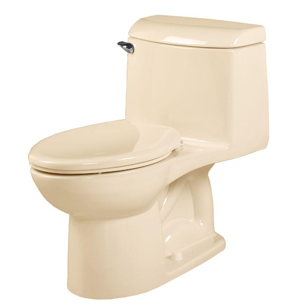 Champion 4 1-Piece 1.59 GPF Single Flush Elongated Bowl Toilet in Bone