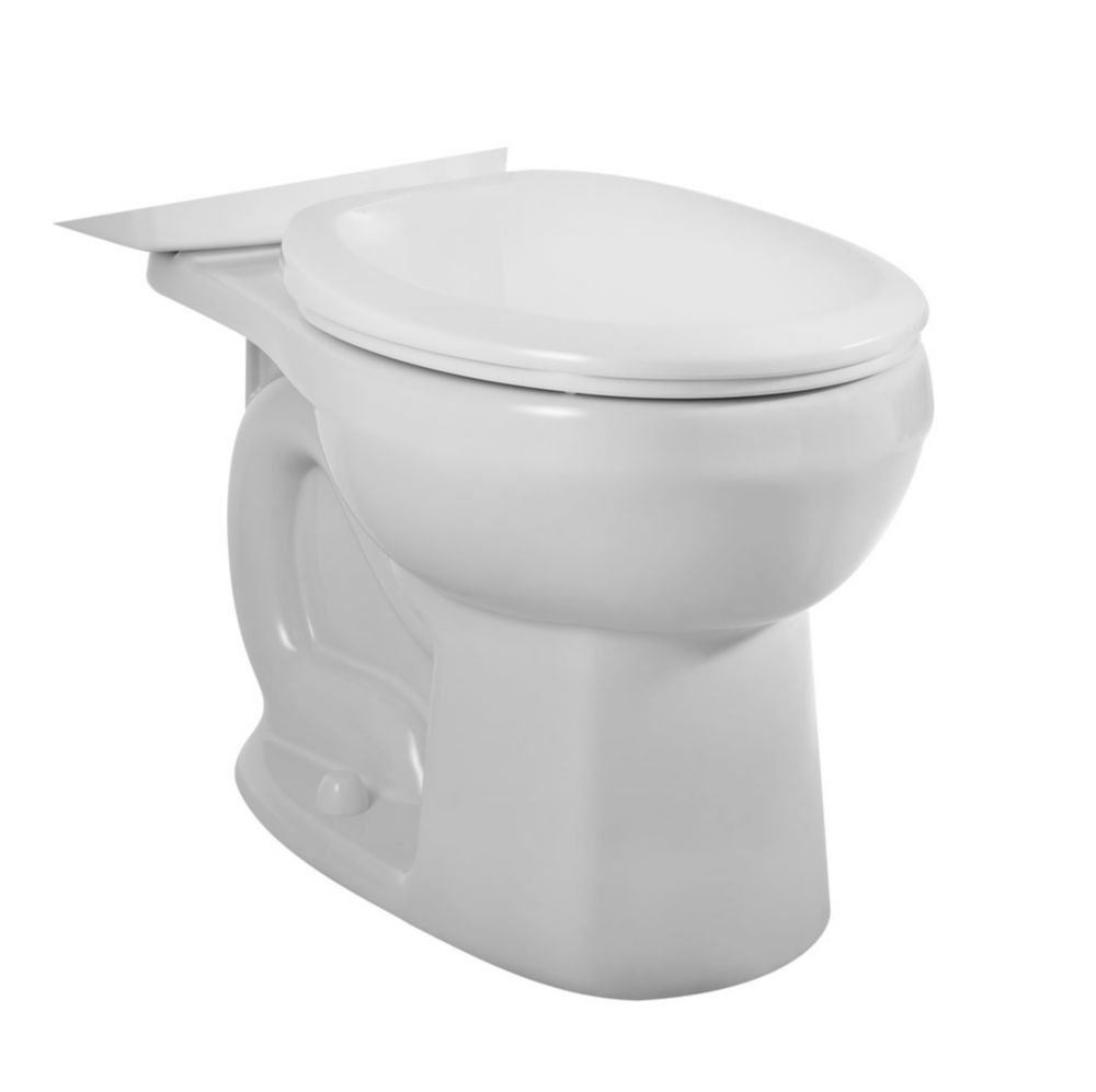 H2Option Siphonic Dual Flush Round Front Toilet Bowl Only in White