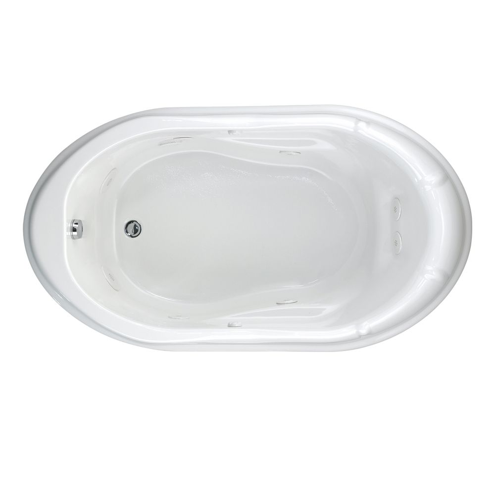 Lifetime Reminiscence 5.5 feet EverClean Whirlpool Tub with Reversible Drain in White 2908LC.020 Canada Discount