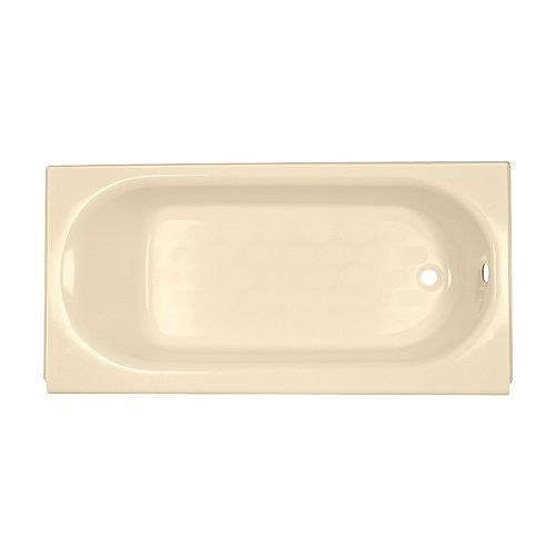 American Standard Princeton 60-inch W Right Hand Drain Rectangular Alcove Bathtub in Bone