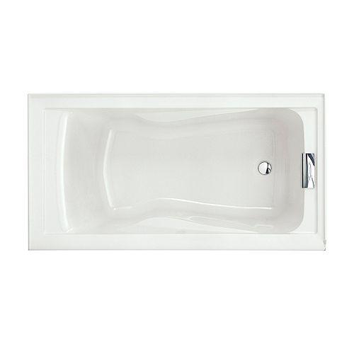 American Standard Evolution 5 ft. Alcove Rectangular Acrylic Reversible Drain Bathtub in White