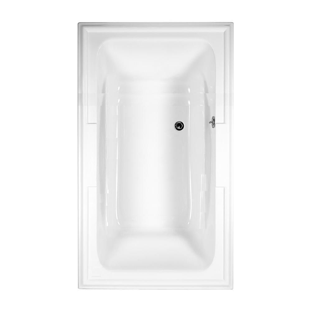 Town Square 6 Feet Acrylic Non Whirlpool Bathtub in White